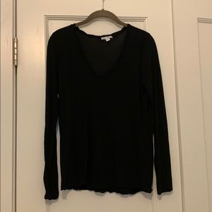 James Perse Long Sleeve black shirt